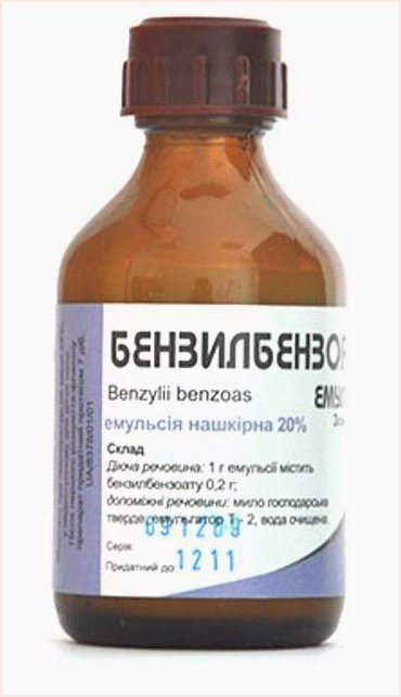 Benzyl benzoate emulsion instruction manual